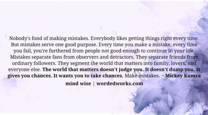 Mind Wise | Mistakes That Matter